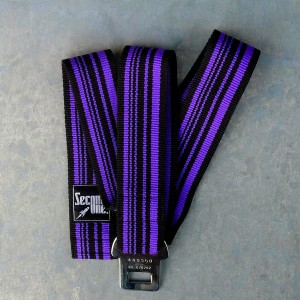 SANGLE BICOLORE NOIRE VIOLETTE