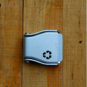 Recycled design buckle